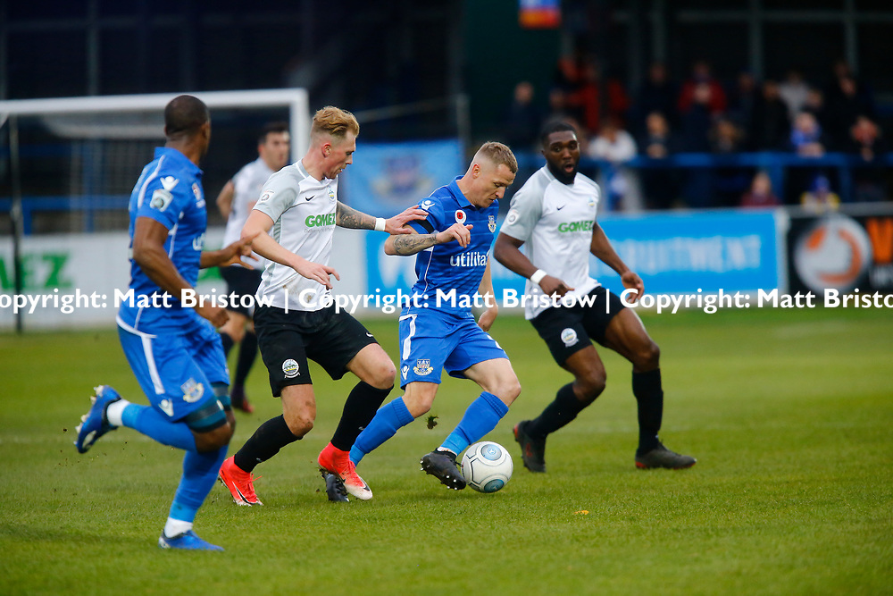 NOVEMBER 11:  Top of the table Dover Athletic host visitors Eastleigh in Conference Premier at Crabble Stadium in Dover, England. Dover ran out emphatic winners 2-0 to remain at the top of the National League. Eastleigh's forward Gary McSheffrey tries to keep the ball. (Photo by Matt Bristow/mattbristow.net)