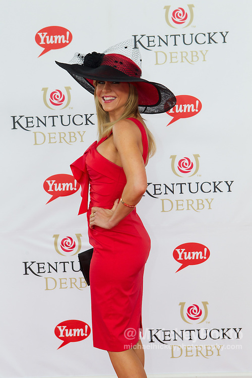Julie Benz attends the Kentucky Derby in Louisville, Ky on May 7, 2011..