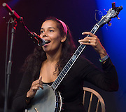 CAMBRIDGE, UK - AUGUST 01: Rhiannon Giddens of Carolina Chocolate Drops performs on stage at Cambridge Folk Festival on August 1st, 2010 in Cambridge, United Kingdom. (Photo by Philip Ryalls/Redferns)**Rhiannon Giddens