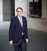 Andrew Marr Show departures<br /> BBC, Broadcasting House, London, Great Britain <br /> 19th February 2017 <br /> <br /> <br /> Lord Peter Mandelson<br />  president of Policy Network and Chairman of strategic advisory firm Global Counsel<br /> <br /> <br /> Photograph by Elliott Franks <br /> Image licensed to Elliott Franks Photography Services