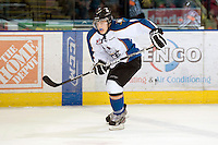 KELOWNA, CANADA, NOVEMBER 25:Jaedon Descheneau #9 of the Kootenay Ice skates on the ice as the Kootenay Ice visit the Kelowna Rockets  on November 25, 2011 at Prospera Place in Kelowna, British Columbia, Canada (Photo by Marissa Baecker/Shoot the Breeze) *** Local Caption *** Jaedon Descheneau;