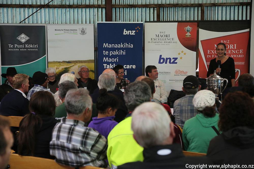 ***FREE FOR MEDIA USE***.. <br /> Feild day at Te Uranga B2 Incorporation - Upoko B2 - Ahuwhenua Trophy, Maori Excellence in Farming Award 2013, Taumaranui, New Zealand, Tuesday, April 23, 2013. Credit: alphapix / John Cowpland