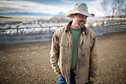 Fourth-generation rancher and Duckworth co-founder John Helle at his home on the family run Helle Rambouillet Ranch near Dillon, Montana on March 9, 2016.  Photo by David Stubbs