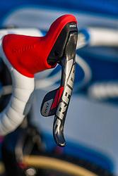 The SRAM brakes of Zdenek STYBAR (CZE) at the first official training of CX Worlds Hoogerheide - Hoogerheide, The Netherlands - 30th January 2014 - Photo by Pim Nijland / Peloton Photos
