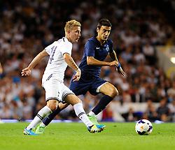 Tottenham Hotspur's Lewis Holtby passes the ball on  - Photo mandatory by-line: Dougie Allward/JMP - Tel: Mobile: 07966 386802 27/08/2013 - SPORT - FOOTBALL - White Hart Lane - London - Tottenham Hotspur V Dinamo Tbilisi -  UEFA EUROPA LEAGUE - PLAY-OFF - SECOND LEG