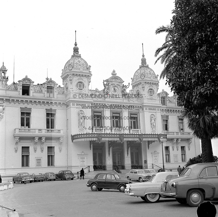 The Winter Casino, Monaco in February 1956.