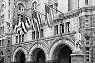 The Old Post Office Pavilion is located at 1100 Pennsylvania Avenue,  was designed by Willoughby J. Edbrooke. The building was originally completed in 1899 and served as the cities main post office until 1914.