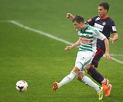 06.04.2014, Generali Arena, Wien, AUT, 1. FBL, FK Austria Wien vs SK Rapid Wien, 31. Runde, im Bild Deni Alar, (SK Rapid Wien, #33) und Lukas Rotpuller, (FK Austria Wien, #5) // during Austrian Bundesliga Football 31st round match, between FK Austria Vienna and SK Rapid Vienna at the Generali Arena, Wien, Austria on 2014/04/06. EXPA Pictures © 2014, PhotoCredit: EXPA/ Thomas Haumer