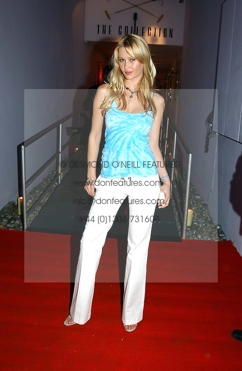 Model LANDI SWANEPOEL the face of Guess Jeans at a party in association with the Hurlingham Polo Association and AJM International publishing to celebrate the forthcoming Cartier International Polo day held at The Collection, 264 Brompton Road, London on 20th July 2004.