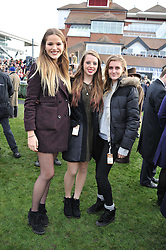 Left to right, FRANCESCA HERBERT, ROSANNA AITCHISON and MOLLY CAYZER-COLVIN at the 2012 Hennessy Gold Cup at Newbury Racecourse, Berkshire on 1st December 2012