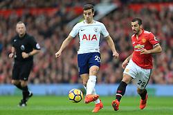 28th October 2017 - Premier League - Manchester United v Tottenham Hotspur - Harry Winks of Spurs battles with Henrikh Mkhitaryan of Man Utd - Photo: Simon Stacpoole / Offside.