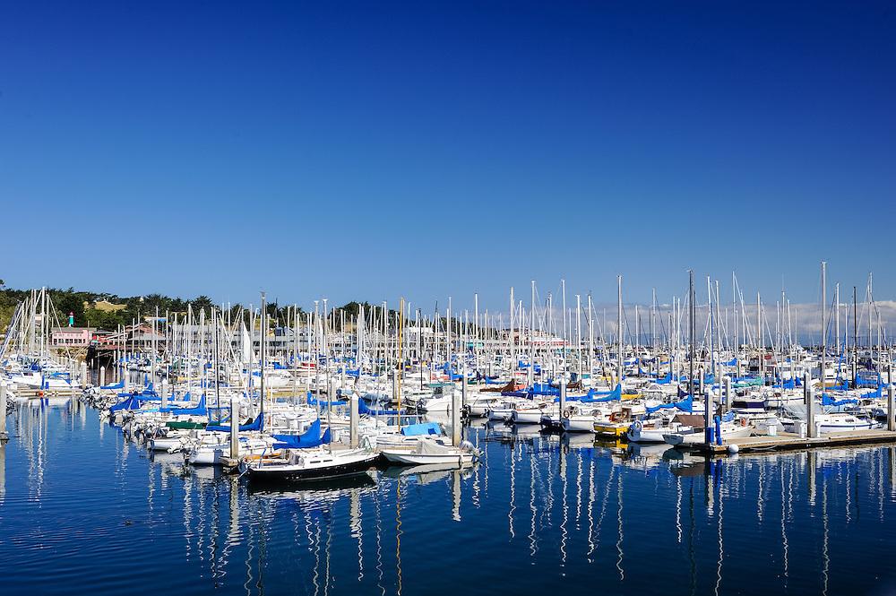 Monterey, California, Harbor, Yacht and fishing boats,  Monterey Bay