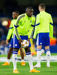 Kurt Zouma of Chelsea at warming up prior to the football match between Chelsea FC and NK Maribor, SLO in Group G of Group Stage of UEFA Champions League 2014/15, on October 21, 2014 in Stamford Bridge Stadium, London, Great Britain. Photo by Vid Ponikvar / Sportida.com