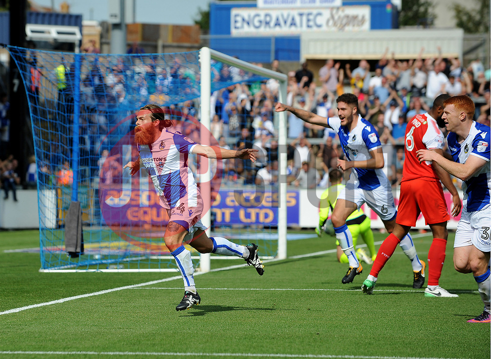 Stuart Sinclair of Bristol Rovers celebrates scoring the first goal  - Mandatory by-line: Neil Brookman/JMP - 26/08/2017 - FOOTBALL - Memorial Stadium - Bristol, England - Bristol Rovers v Fleetwood Town - Sky Bet League One