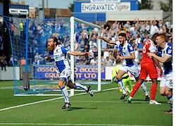 Stuart Sinclair of Bristol Rovers celebrates scoring the first goal  - Mandatory by-line: Neil Brookman/JMP - 26/08/2017 - FOOTBALL - Memorial Stadium - Bristol, England - Bristol Rovers v Fleetwood Town - Sky Bet League One