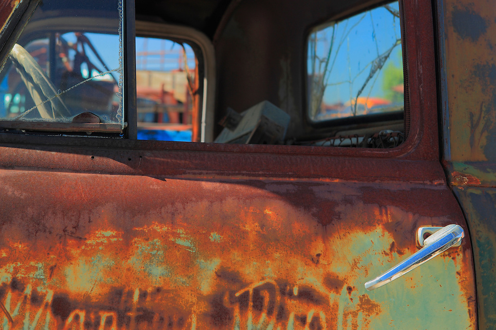 Rusted Truck Cab Door - Motor Transport Museum - Campo, CA