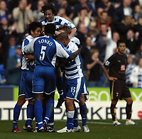Photo: Jonathan Butler.<br /> Reading v Tottenham Hotspur. The Barclays Premiership. 12/11/2006.<br /> Reading celebrate Nicky Shorey goal.