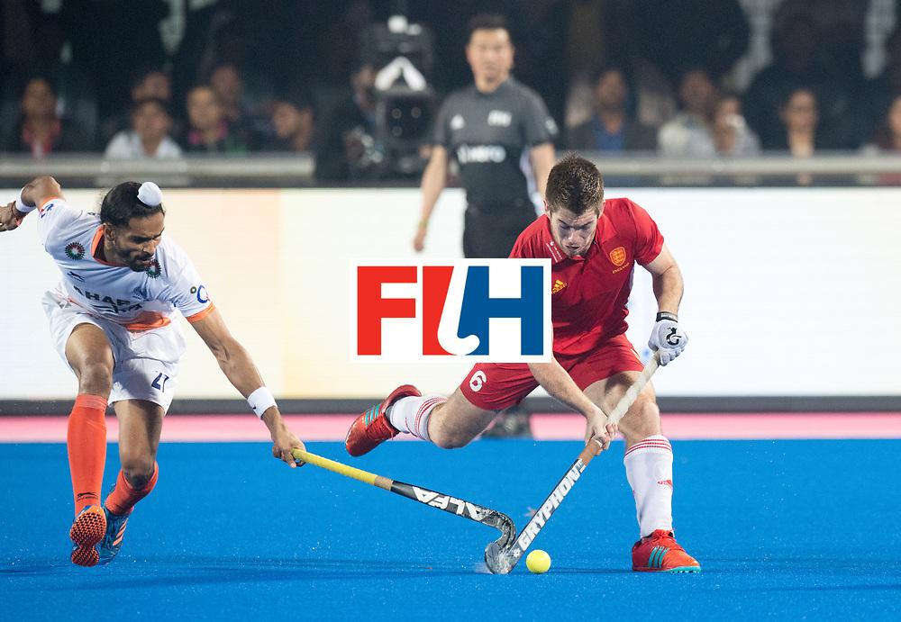 Odisha Men's Hockey World League Final Bhubaneswar 2017<br /> Match id:05<br /> 06 IND v ENG (Pool B)<br /> Foto: Akashdeep Singh (Ind) duel with Henry Weir (Eng) <br /> WORLDSPORTPICS COPYRIGHT FRANK UIJLENBROEK