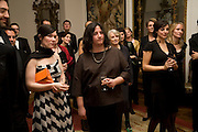 Last winner Margaret Salmon and Hannah Rickards this year's  winner, Dinner at the Italian Embassy in which the winner of the MaxMara Art Prize ( in collaboration with the Whitechapel art gallery )for Women is announced. Grosvenor Sq. London. 29 January 2008.  -DO NOT ARCHIVE-© Copyright Photograph by Dafydd Jones. 248 Clapham Rd. London SW9 0PZ. Tel 0207 820 0771. www.dafjones.com.
