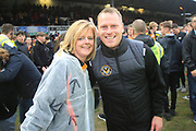 Mike Flynn all smiles after the gameduring the EFL Sky Bet League 2 match between Newport County and Notts County at Rodney Parade, Newport, Wales on 6 May 2017. Photo by Daniel Youngs.