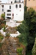 EN.- Fa&ccedil;ade of  house on the edge of the gorge in Ronda.  Ronda, Malaga, Andalucia, Spain.<br /> ES.- Fachada de una casa al borde del Tajo de Ronda. M&aacute;laga, Andaluc&iacute;a, Espa&ntilde;a.