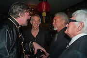 STEPHEN FRY; TONY BLAIR; SIR TOM JONES; DON, Chinese New Year dinner given by Sir David Tang. China Tang. Park Lane. London. 4 February 2013.