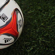The 2014 adidas MLS Match Ball, is based on the Brazuca, the official match ball of the 2014 FIFA World Cup in Brazil. The MLS became the first league in the world to play with the Brazuca. Photo Tim Clayton