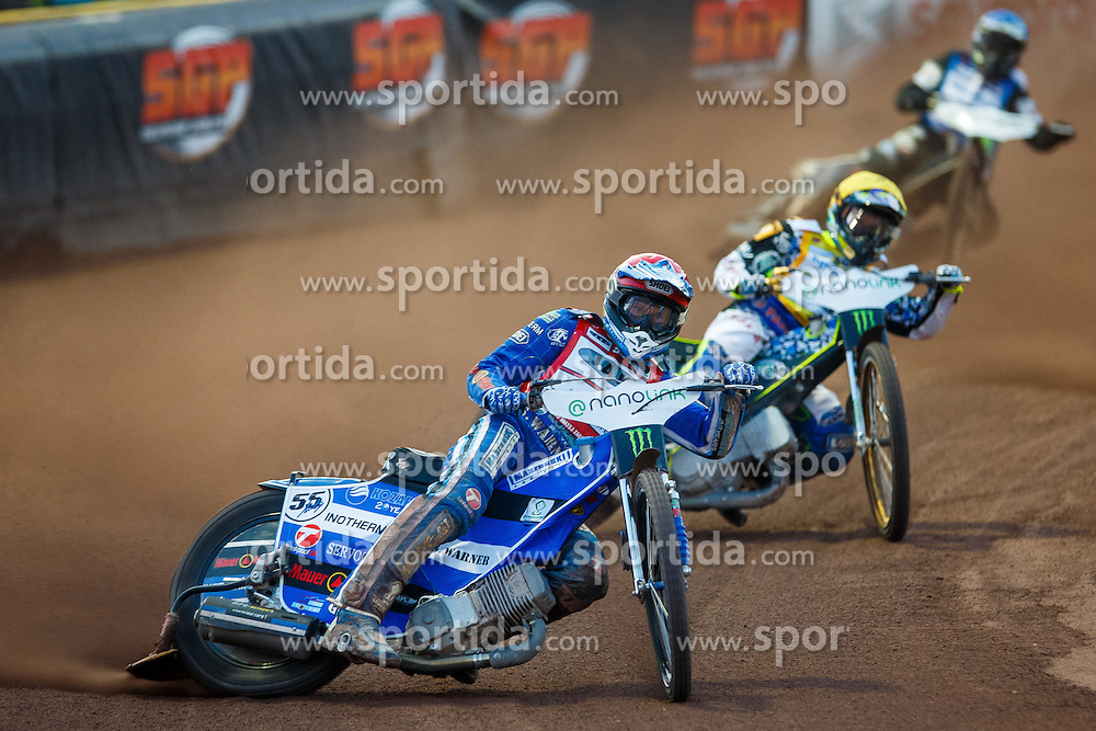 Matej Zagar of Slovenia, FREDRIK LINDGREN of Sweden and TAI WOFFINDEN of Great Britain during FIM Speedway Grand Prix World Cup, Krsko, on 30. April, 2016, in Sports park Krsko, Slovenia. Photo by Grega Valancic / Sportida