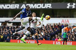 Romelu Lukaku of Everton out stretches a leg towards the ball - Mandatory by-line: Jason Brown/JMP - 05/03/2017 - FOOTBALL - White Hart Lane - London, England - Tottenham Hotspur v Everton - Premier League