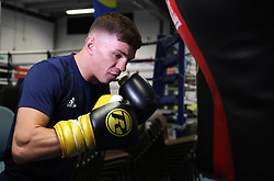 Luke McCormack during a photocall at Birtley boxing club, Gateshead.
