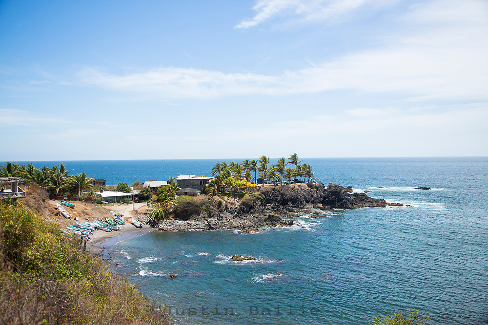 Tropical coastline. Michoacan, Mexico.