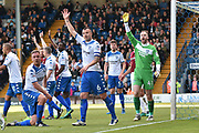 Bury Defender, Tom Beadling (42) and Bury Midfielder, Antony Kay (6) during the EFL Sky Bet League 1 match between Bury and Northampton Town at the JD Stadium, Bury, England on 22 April 2017. Photo by Mark Pollitt.