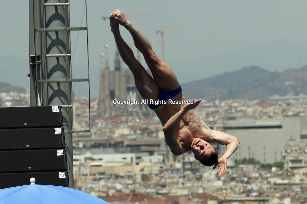 22.07.2013 Barcelona, Spain. 15th Fina World Championships. Picture shows Kolodiy Oleg (UKR) in action during Men's 1M  springboard Final at Piscina Municipal de Montjuic