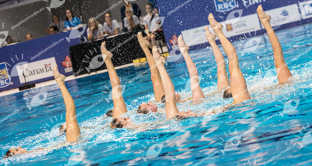 UKRAINE, UKR<br /> ANANASOVA, Lolita <br /> ZAITSEVA, Olesia<br /> KONDRASHOVA, Olga<br /> SABADA, Oleksandra<br /> SADURSKA, Kateryna<br /> SAVCHUK, Anastasiya<br /> SYDORENKO, Kseniya<br /> VOLOSHYNA, Anna13 th FINA Synchronised Swimming World Cup<br /> Quebec City, Canada CAN 2014  Oct.2 nd - 5th<br /> Day1 - Oct.2 Team Technical<br /> Photo G. Scala/Deepbluemedia