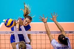 23-08-2017 NED: World Qualifications Greece - Slovenia, Rotterdam<br /> SloveniÎ wint met 3-0 / Anthi Vasilantonaki #11 of Greece<br /> Photo by Ronald Hoogendoorn / Sportida