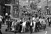Dearne Valley and Royston Drift banners, banners,1983 Yorkshire Miner's Gala. Barnsley