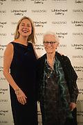 IWONA BLAZWICK; OBE:; JOAN JONAS ,  Whitechapel Gallery Art Icon Gala, supported by the Swarovski Foundation, Honoring the lifetime achievement of Joan Jonas. Christ Church Spitafields. London.
