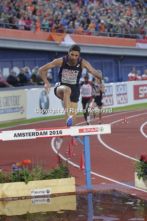 08.07.2016. Amsterdam, Holland. The European Athletics Championships. Mahiedine Mekhissi - Benabbad European Champion in the 3,000 steeplechase for men