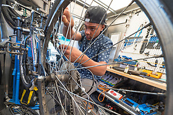 Bike Works' BikeMobile, which offers free bike repair and bike education at community centers, parks and other locations throughout Seattle.