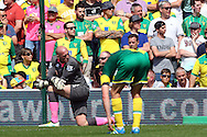 John Ruddy of Norwich looks dejected after conceding what turns out to be the winning goal during the Barclays Premier League match at Carrow Road, Norwich<br /> Picture by Paul Chesterton/Focus Images Ltd +44 7904 640267<br /> 07/05/2016