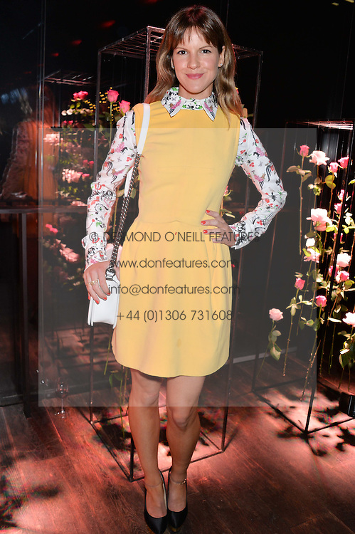 FUSCHIA KATE SUMNER at the Lancôme pre BAFTA party held at The London Edition, 10 Berners Street, London on 14th February 2014.