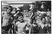 CHILDREN STARING AT PLOOT, Butlins Holiday Camp, Minehead, Somerset. Summer 1979.
