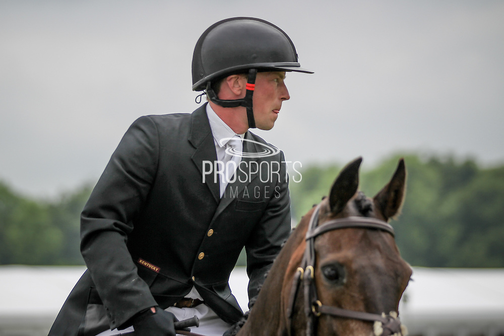Simon Grieve during the final jumping event at Bramham International Horse Trials 2016 at  at Bramham Park, Bramham, United Kingdom on 12 June 2016. Photo by Mark P Doherty.