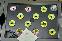 Farm 08 Right (14 days). Edible Flowers (AeroGarden). F08R01, F08R02 Dianthus; F08R03, F08R05 Purple Snapdragon; F08R04, F08R06, F08R07, F08R08 Snapdragon; F0809, F08R12 Durango Marigold; F08R11, F08R11 Calandula. Image taken with a Leica TL-2 camera and 35 mm f/1.4 lens (ISO 400, 35 mm, f/8, 1/80 sec).