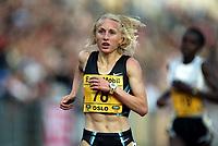 Track and Field, 28. june 2002, Golden League - Bislett Games, Oslo, Norway.  Gabriela Szabo 5000 metres.