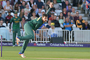 Steven Mullaney following through during the NatWest T20 Blast Quarter Final match between Notts Outlaws and Somerset County Cricket Club at Trent Bridge, West Bridgford, United Kingdom on 24 August 2017. Photo by Simon Trafford.
