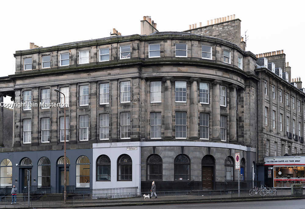 Edinburgh, Scotland, UK. 8 Feb 2018. Old former bank building on Blenheim Place in Edinburgh where Topping and Company Booksellers will open their first independent bookstore in the city in 2019.