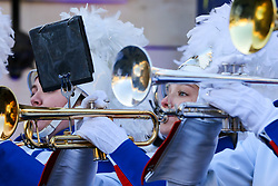 © Licensed to London News Pictures. 30/12/2019. London, UK. Performers from West Orange High School perform at the preview of the London New Year's Day Parade in Covent Garden Piazza.<br /> The London New Years Day Parade, in its 32nd year will take place on 1 January 2020 and will feature more than 10,000 performers from across the world. Photo credit: Dinendra Haria/LNP