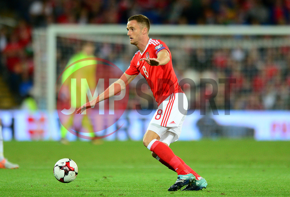Andy King of Wales - Mandatory by-line: Dougie Allward/JMP - 02/09/2017 - FOOTBALL - Cardiff City Stadium - Cardiff, Wales - Wales v Austria - FIFA World Cup Qualifier 2018