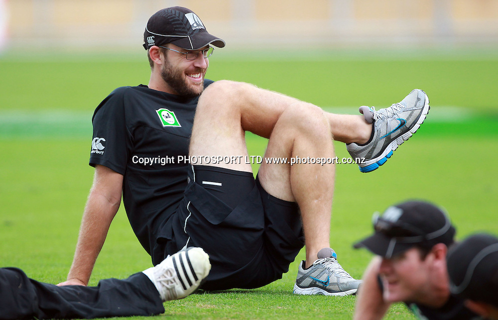New Zealand Cricket Captain Daniel Vettori at a training session at McLean Park, Napier, Monday 31 January 2011. Photo: Andrew Cornaga/photosport.co.nz
